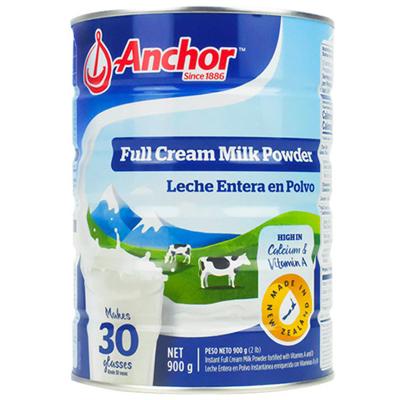 【產自新西蘭】安佳(Anchor) 全脂高鈣成人奶粉 900g/罐 進口奶粉 學生奶粉 新西蘭進口