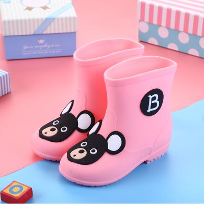 兒童雨鞋兒童水鞋男童女童雨靴寶寶卡通防滑水鞋 莎丞