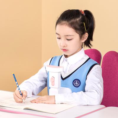 得力(deli)70540兒童坐姿矯正器 粉色 小學生寫字學習支架 防近視駝背矯正糾正器可升降 學生文具套裝