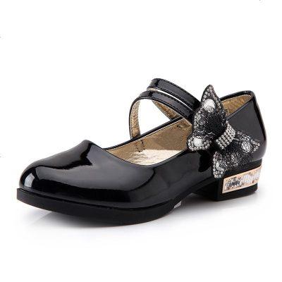 19秋季新款兒童單鞋黑色女童皮鞋中大童公主鞋小女孩表演鞋學生鞋