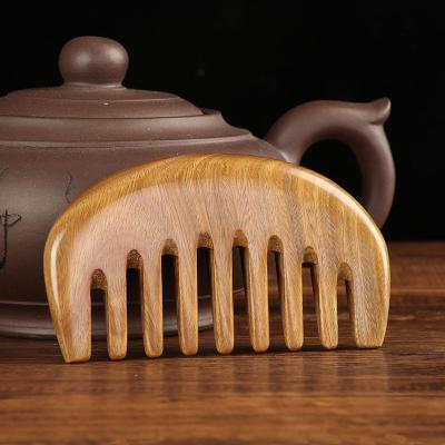 口袋梳木梳子專用通乳梳小號頭部經絡梳洛滑整木寬齒按摩梳 圓形
