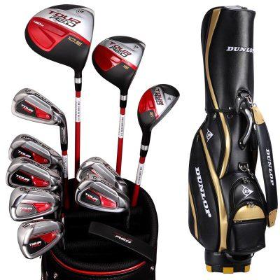 登路普(DUNLOP) 高尔夫球杆 男士全套 碳素杆身 全套杆 初学球杆 RED系列