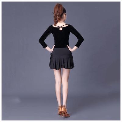 因樂思(YINLESI)拉丁舞裙練習裙 半身裙 腰無痕短裙女舞蹈服裝廣場舞短