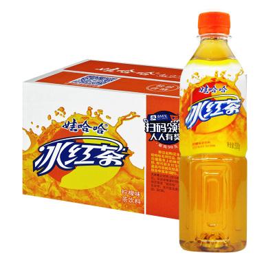 【19年12生產】娃哈哈冰紅茶飲品500ml*15瓶檸檬味休閑飲料清爽解渴夏季清涼飲品