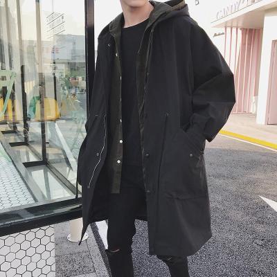 风衣男新款潮流学生中长款流行过膝大衣冬季港风外套