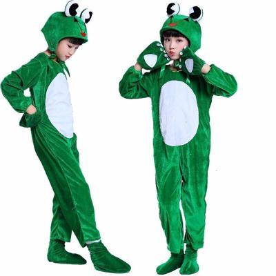 兒童動物服小蝌蚪找媽媽演出服青蛙小鴨子白鵝烏龜表演服長袖