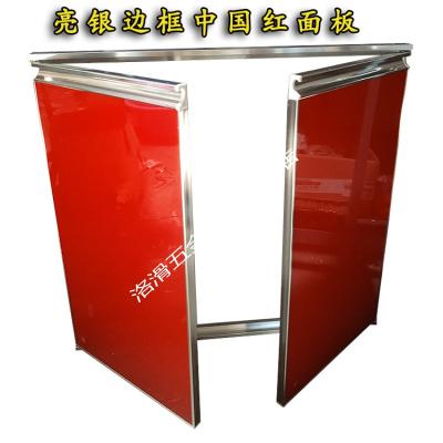 橱柜定做带外框晶钢钢化玻璃带框灶台柜大理石柜体厨柜 亮银外框全套