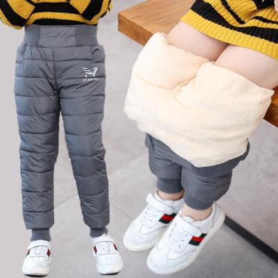 兒童羽絨棉褲加厚高腰男女中大童冬褲加絨寶寶長褲子冬季保暖童裝 臻澀