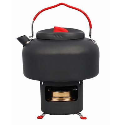 愛路客(ALOCS)戶外燒水壺 野外便攜液體固體酒精爐泡茶壺套裝咖啡壺