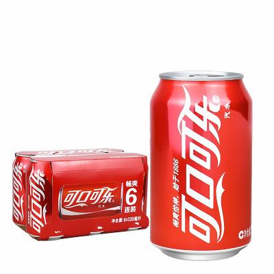 可口可樂罐裝330m*12聽碳酸飲料汽水夏季飲料