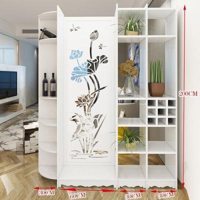 杞沐屏风隔断柜玄关柜客厅小户型简约现代卧室双面白色折叠卫生间简易
