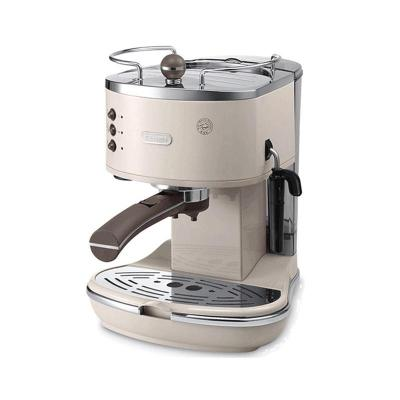 【欧洲原装进口】德龙(DeLonghi)ECOV311意式半自动咖啡机 不锈钢 滴漏式 咖啡机 奶白