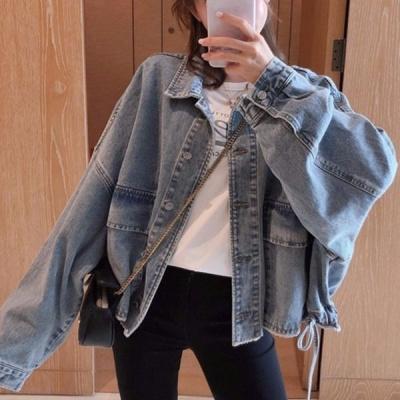 景逃逃2020年新款短款牛仔夾克外套女學生韓版寬松秋裝百搭上衣ins潮