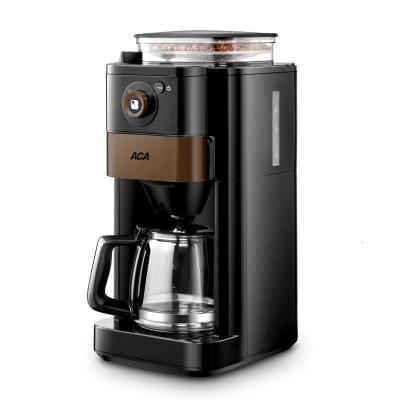 ACA/北美電器全自動咖啡機研磨一體家用小型商用美式滴漏現磨煮壺