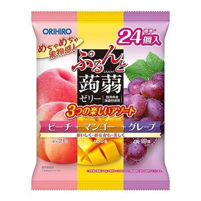 立喜樂orihiro果凍蒟蒻水果味低卡布丁12枚 12g草莓橙子 草莓橘子(新口味) 1袋