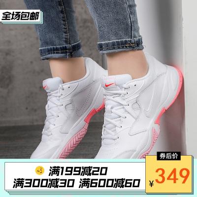 NIKE耐克女鞋網球鞋2020新款復古白銀低幫時尚休閑訓練運動鞋AR8838