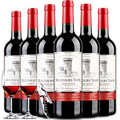 【法國原瓶】進口紅酒 曼妥思寶塔干紅葡萄酒750ml整箱6支裝