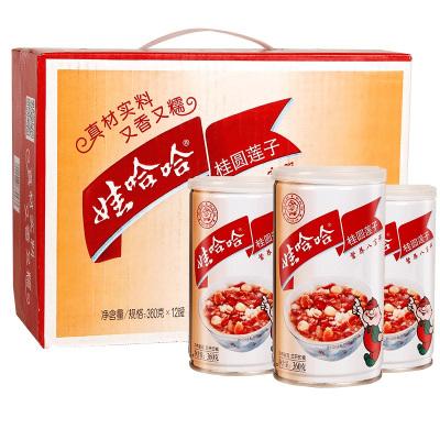 娃哈哈桂圓蓮子八寶粥手提式整箱早餐五谷雜糧代餐速食粥360g*12罐