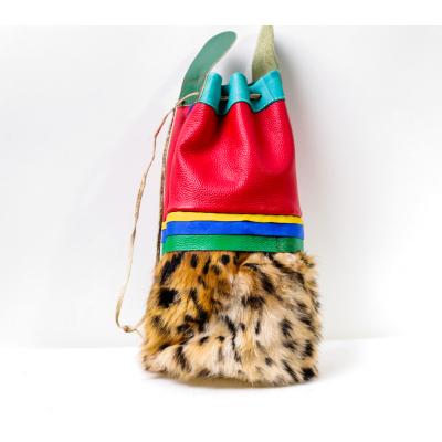 【中華特色館】西藏館 番德林西藏傳統布藝手工藝騰庫 真牛皮騰庫紅色