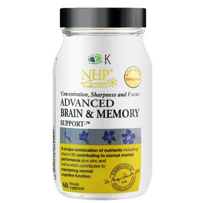 英国NHP辅酶Q10补脑辅助记忆力青少年提神学生成人保健品舒缓焦虑其他瓶装