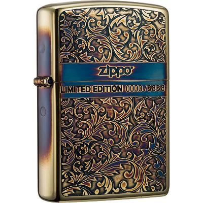 ZIPPO芝寶打火機原裝ZIPPO煤油之寶打火機生日禮物 限量ZBT-3-183a幸運唐草