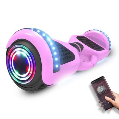 阿尔郎(AERLANG)双轮智能电动平衡车成人扭扭漂移思维体感车两轮儿童平衡车-6.5吋X3E-B粉红色
