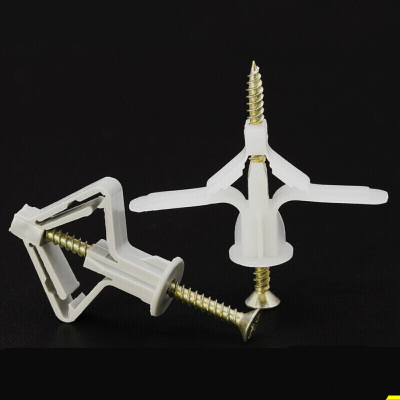 定做 飛機膨脹管 石膏板膨脹管塑料漲栓蝴蝶型膨脹螺絲脹塞膠塞自攻螺絲