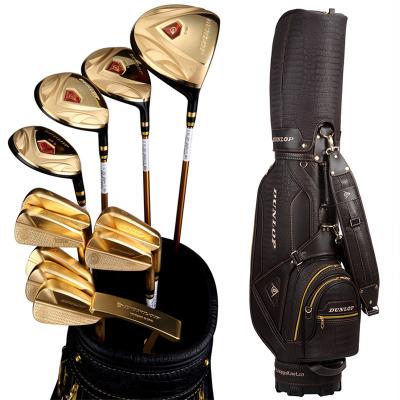 登路普(DUNLOP) 高尔夫球杆 全套杆 男士球杆套装 钛合金 碳素杆身 黄金版 DP-2