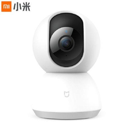 小米(MI)小米米家智能攝像機 云臺版 白色 智能外設 1080P高清 360度全景視角 家用 紅外夜視 監控攝像頭