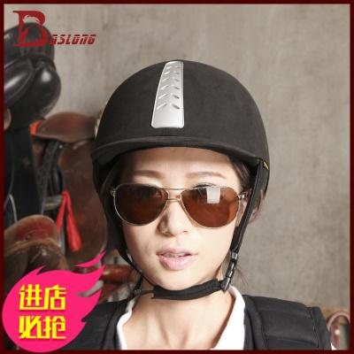 八尺龍馬術頭盔植絨騎馬頭盔 女款透氣馬帽子騎裝備