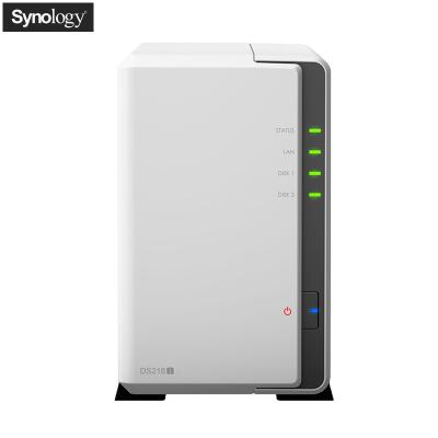 群晖(Synology)DS218j 2盘位NAS网络存储服务器(无内置硬盘)不规则体SATA接端口支持NAS盘红盘金盘