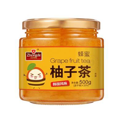 眾德蜂蜜柚子檸檬茶500g罐裝沖水喝的飲品 泡水沖飲沖泡水果茶醬