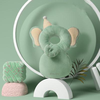babycare寶寶防摔頭部保護墊嬰兒防摔護頭帽兒童學步防撞頭防摔枕 馬里納大象-水晶絨