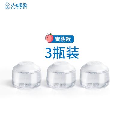 SEVEN BUBBLE/小七泡泡儿童成人厨房卫浴洗洗手液-水蜜桃3瓶装组合