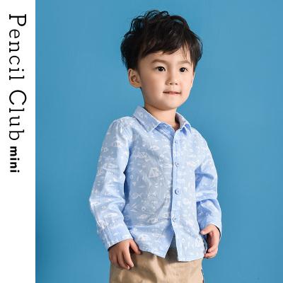 铅笔俱乐部童装2019春秋新款男童长袖衬衣小童宝宝长袖衬衫