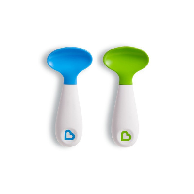 满趣健(munchkin)母婴婴幼儿童餐具左右手方便训练勺(2只装)