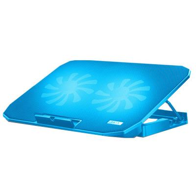 酷睿冰尊 笔记本散热垫14-17.6寸笔记本手提电脑降温底座冷风排风扇支架垫静音N106散热垫 蓝色豪华版 凯辛