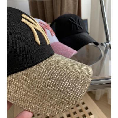 秒!!確定の緣!NY洋基の飽滿刺繡logo棒球帽鴨舌帽男女同款[定制] 黑色 可調節