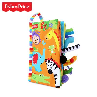 費雪(Fisher Price)3D立體布書繽紛動物寶寶手掌書親子互動嬰幼兒早教啟蒙益智玩具F0850