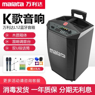 萬利達(malata)L12 廣場舞音響 12英寸大功率戶外移動音箱 拉桿音響帶U段話筒便攜式低音炮 帶麥克風