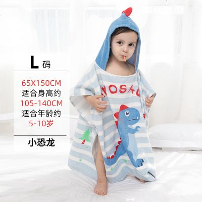 科儿童浴袍料男女孩可穿斗篷带帽吸水浴巾宝宝卡通游泳浴衣