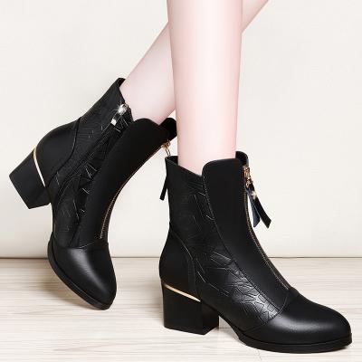 萊卡金頓LAIKAJINDUN單鞋黑色高跟鞋小皮鞋英倫風女鞋子6396-1