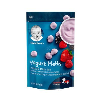 嘉寶(Gerber)混合莓酸奶溶豆 3段 28g/袋裝 寶寶零食點心 原裝進口 8個月以上