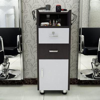 理发店发廊镜台工具柜工具车美发产品展示柜美容美发推车木质柜子