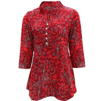 中老年女裝媽媽裝夏裝T恤長袖上衣40-50歲大碼中年女春裝滌綸 衫伊格