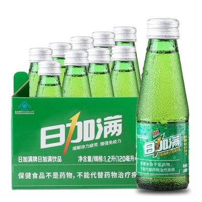 日加滿功能飲料小綠瓶120ml*10瓶提神抗疲勞開車熬夜?;撬峋W紅同款飲品
