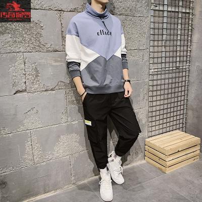 傳奇保羅(CHUANQIBAOLUO)男士套裝衛衣春秋季2020新款韓版潮流休閑運動ins衣服男