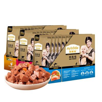 麥富迪 狗罐頭濕糧妙鮮肉粒包 泰迪金毛零食 清燉牛肉(95g*12包)