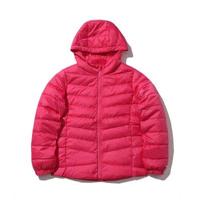 李寧童裝短款羽絨服女小大童3-12歲休閑冬季白鴨絨運動服