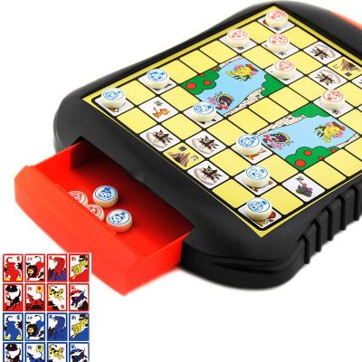 斗兽棋 磁性磁石儿童小学生便携式折叠卡通动物棋桌面游戏棋亲子玩具成人休闲聚会磁力飞行棋象棋 抽屉式大号斗兽棋
